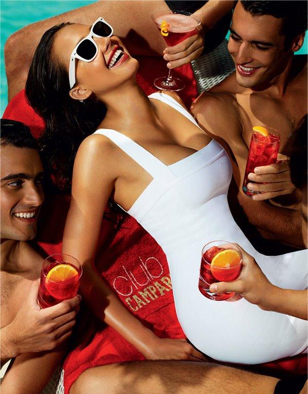 Campari Calendar August 2009 Jessica Alba
