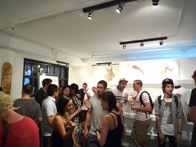 Inside Halfsleeve store launch party