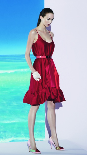 Carl Kapp Flower Dress Red SS08