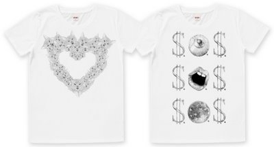 Lovefoxx graniph t-shirts