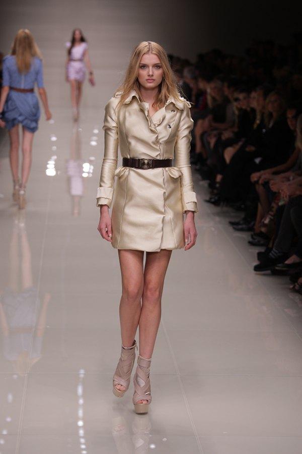 London Fashion Week 2009 Burberry dress