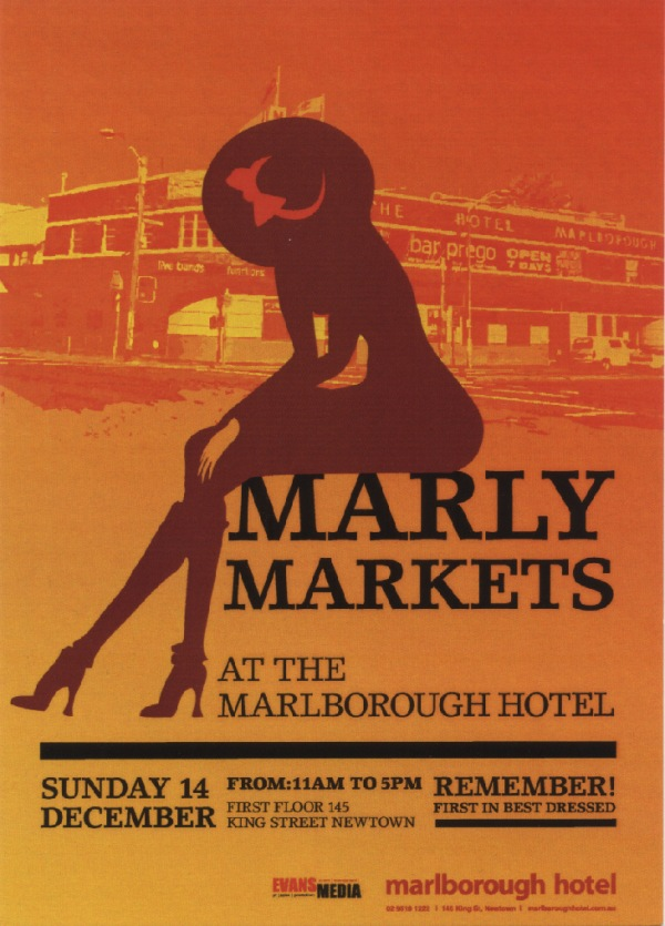 Marly Market postcard