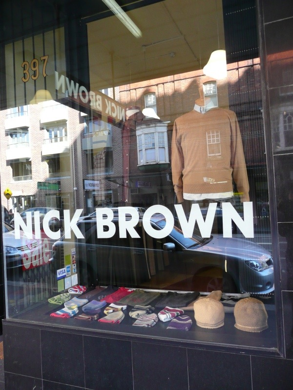 Nick Brown shopfront