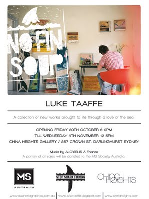 No Fin Soup Luke Taaffe exhibition China Heights